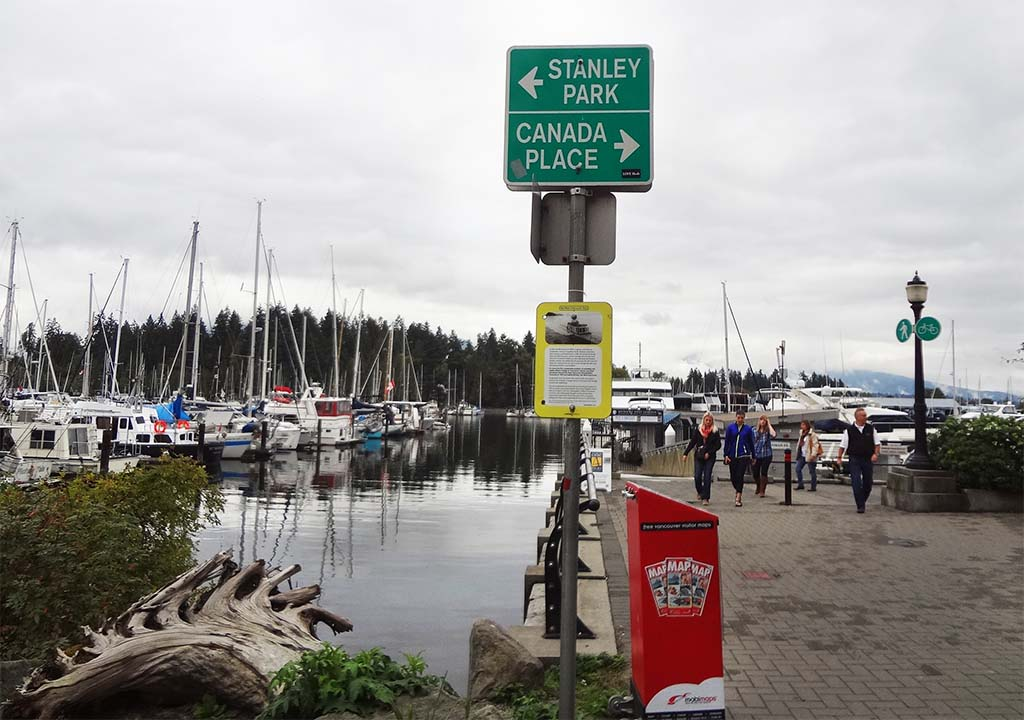 Stanley Park Canada Place Signage