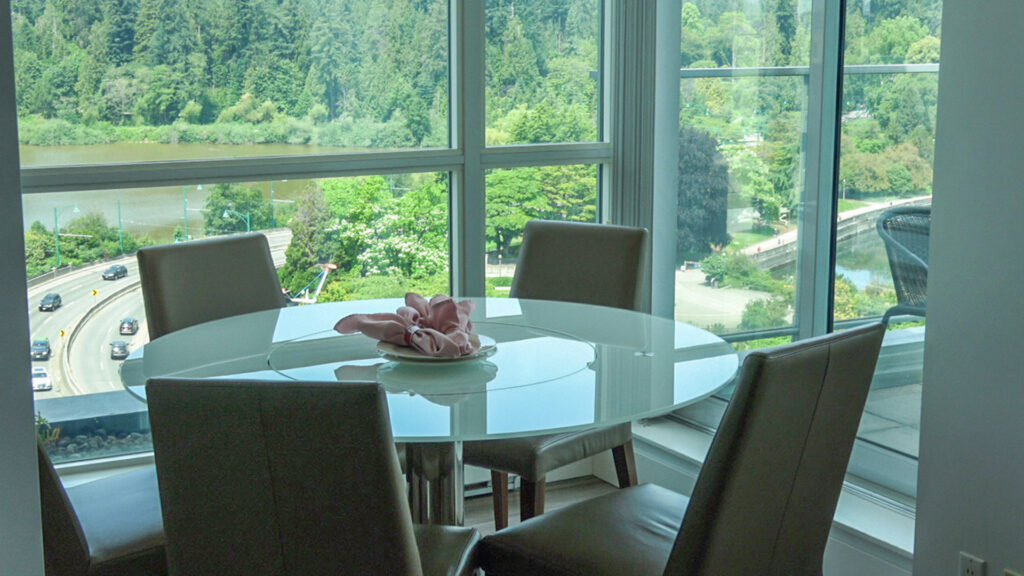 Presidential Suites Dining Area With Coal Harbour Views