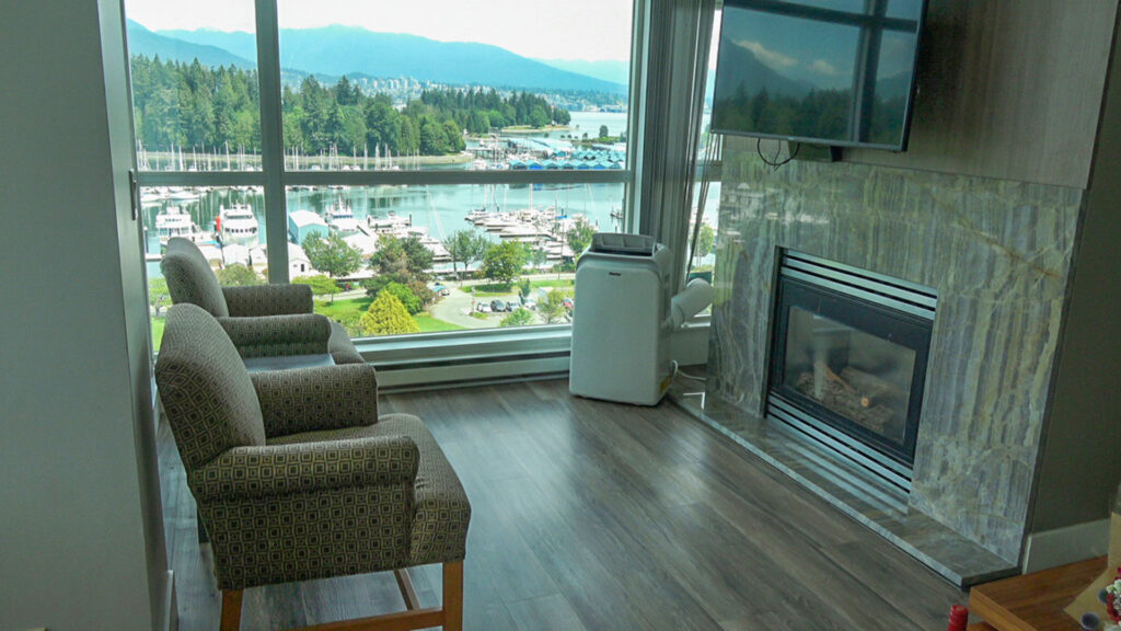 Presidential Suites Living Room With Coal Harbour Views